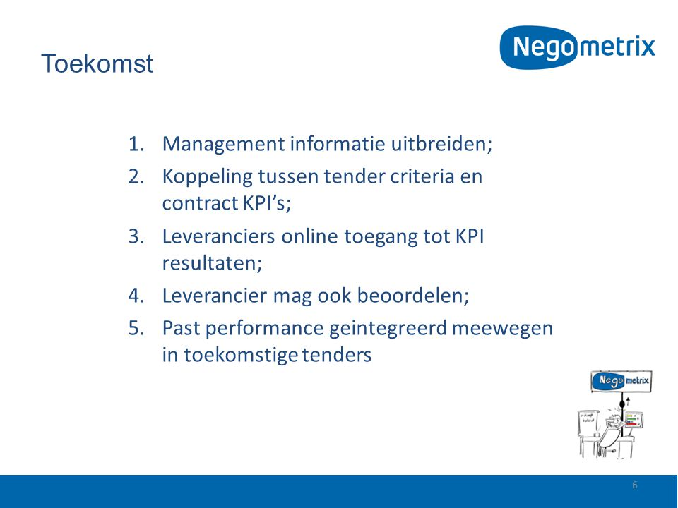 Toekomst Management informatie uitbreiden;