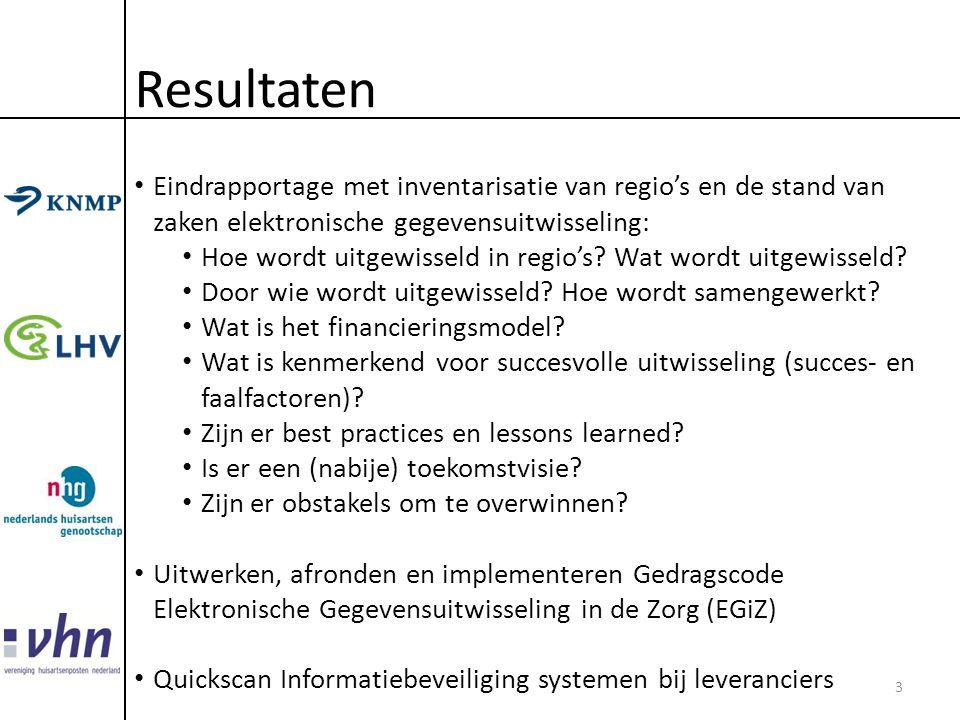 Resultaten Eindrapportage met inventarisatie van regio's en de stand van zaken elektronische gegevensuitwisseling: