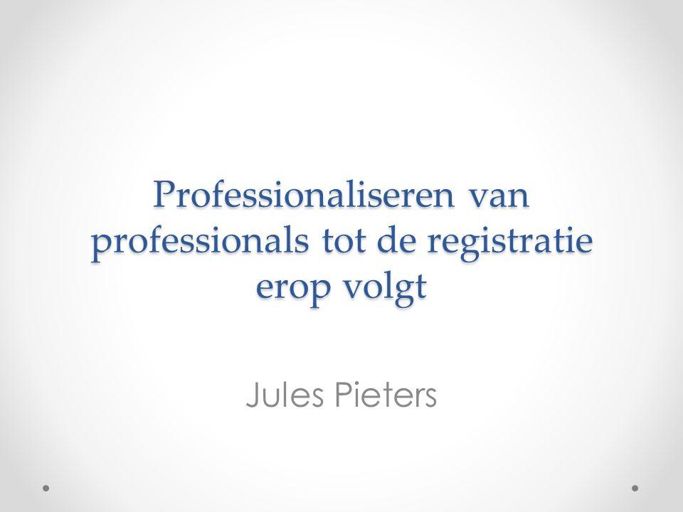 Professionaliseren van professionals tot de registratie erop volgt