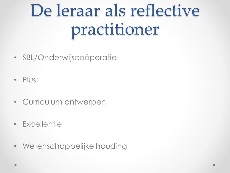 De leraar als reflective practitioner
