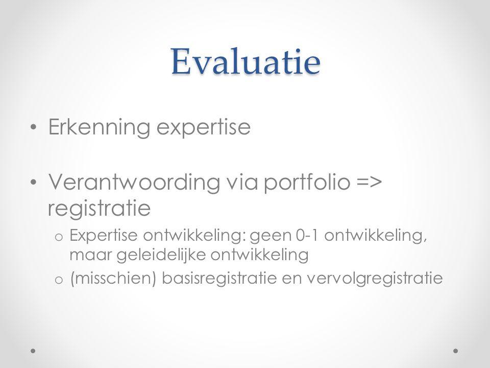 Evaluatie Erkenning expertise