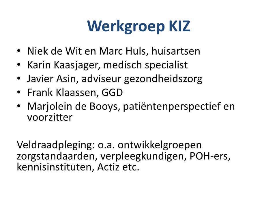 Werkgroep KIZ Niek de Wit en Marc Huls, huisartsen