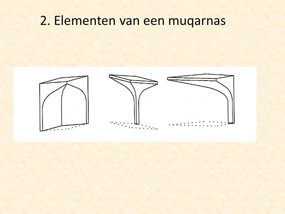 2. Elementen van een muqarnas
