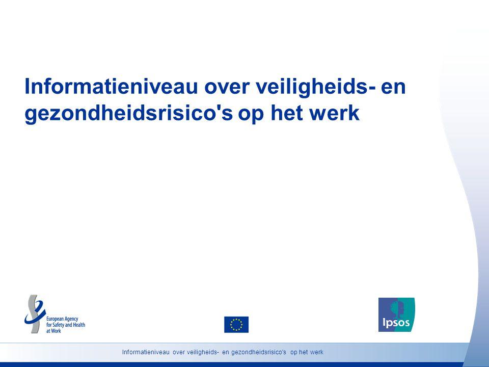 Informatieniveau over veiligheids- en gezondheidsrisico s op het werk