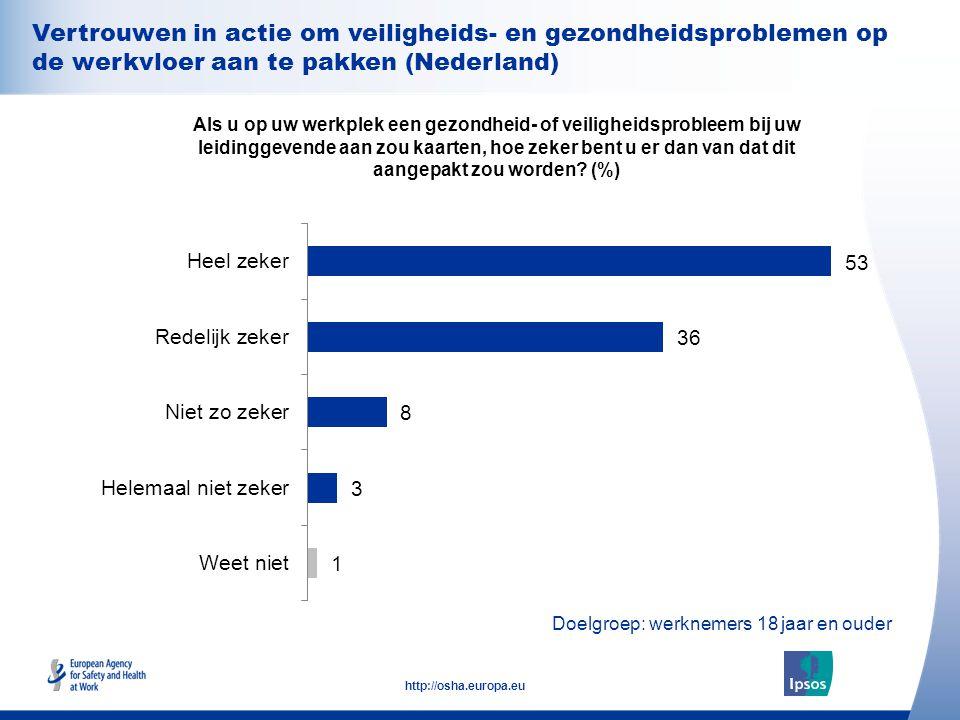Vertrouwen in actie om veiligheids- en gezondheidsproblemen op de werkvloer aan te pakken (Nederland)