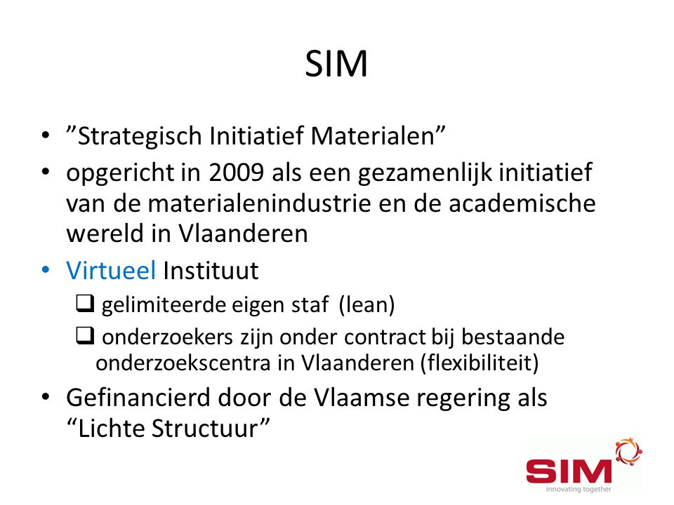SIM Strategisch Initiatief Materialen