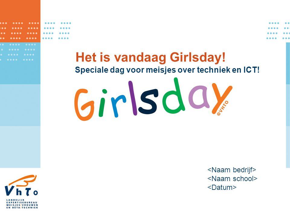 Het is vandaag Girlsday!
