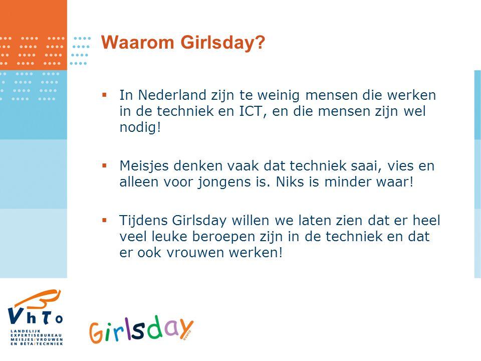 Waarom Girlsday In Nederland zijn te weinig mensen die werken in de techniek en ICT, en die mensen zijn wel nodig!