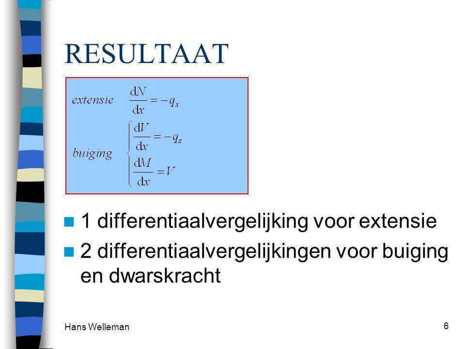 RESULTAAT 1 differentiaalvergelijking voor extensie