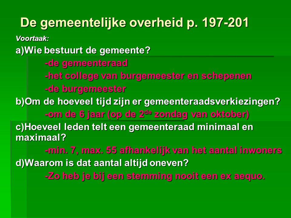 De gemeentelijke overheid p. 197-201