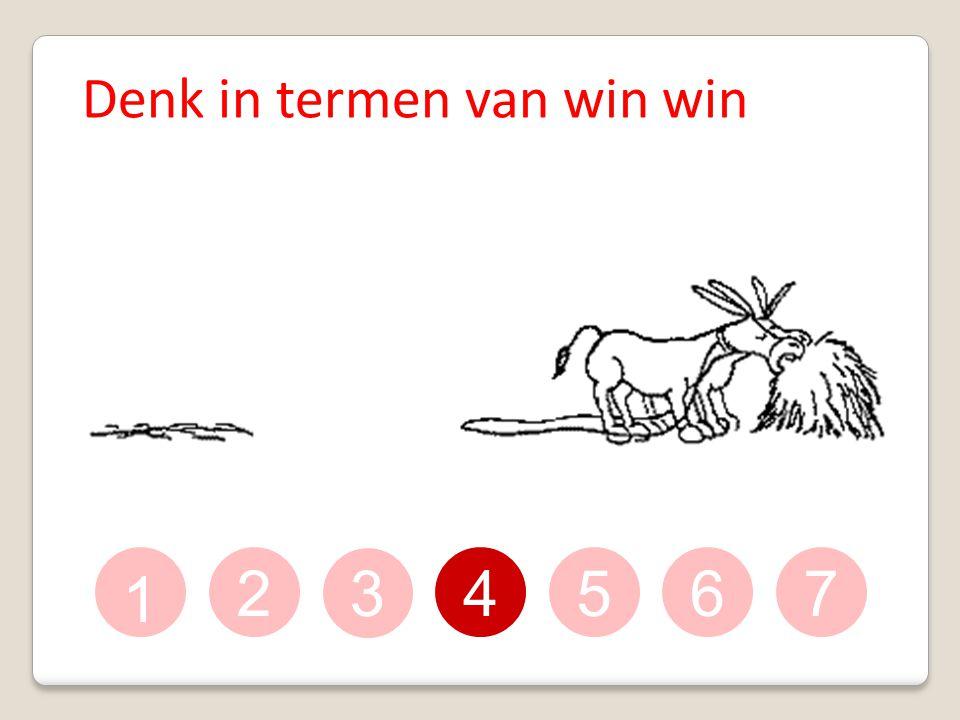 Denk in termen van win win
