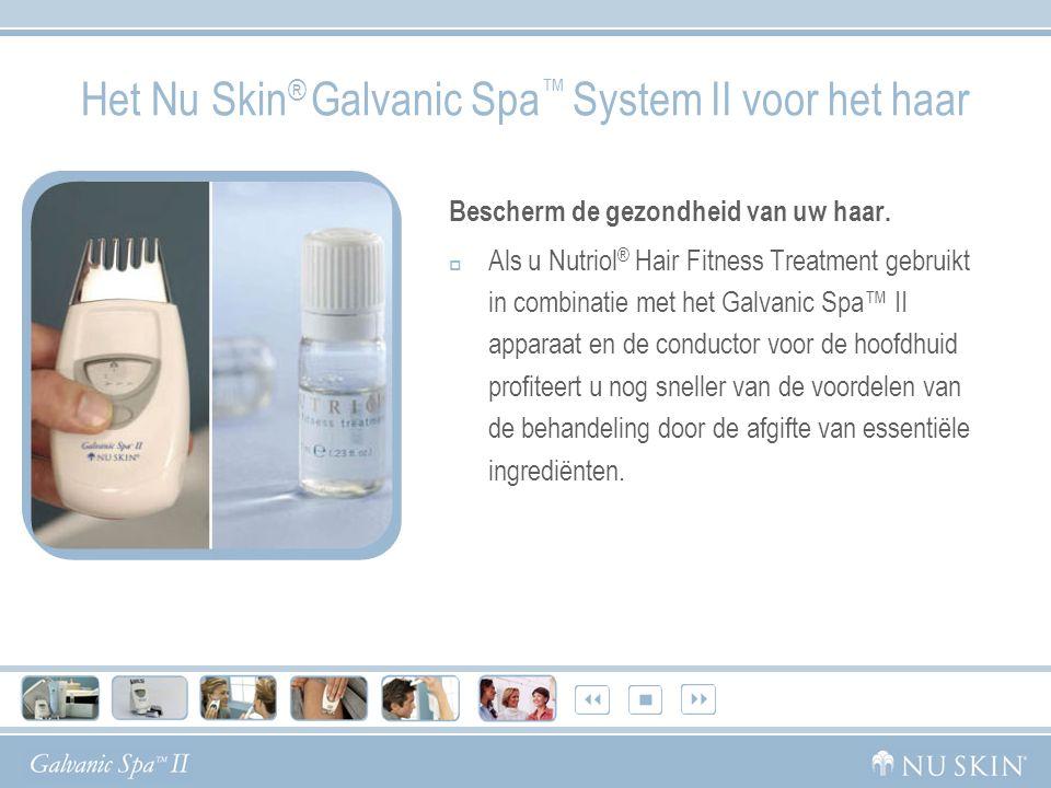 Het Nu Skin® Galvanic Spa™ System II voor het haar