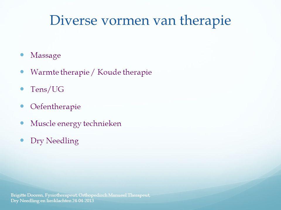 Diverse vormen van therapie
