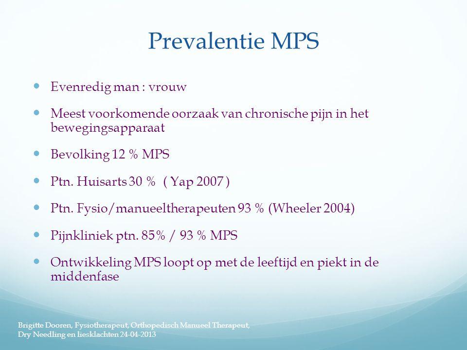 Prevalentie MPS Evenredig man : vrouw