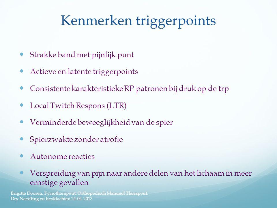 Kenmerken triggerpoints