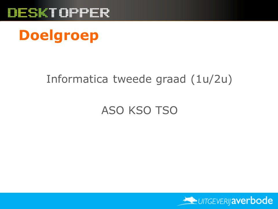 Informatica tweede graad (1u/2u) ASO KSO TSO