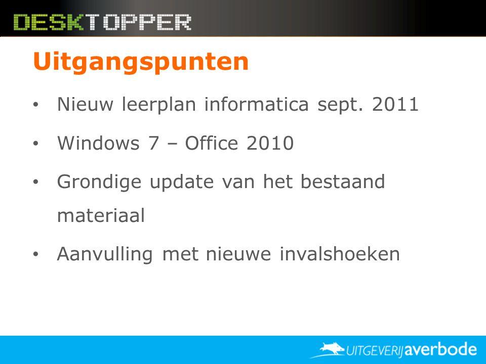 Uitgangspunten Nieuw leerplan informatica sept. 2011