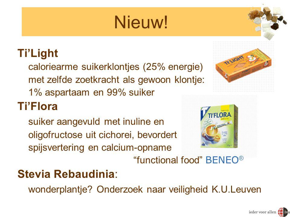 Nieuw! Ti'Light Ti'Flora suiker aangevuld met inuline en