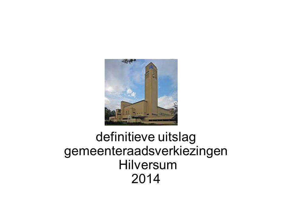 definitieve uitslag gemeenteraadsverkiezingen Hilversum 2014