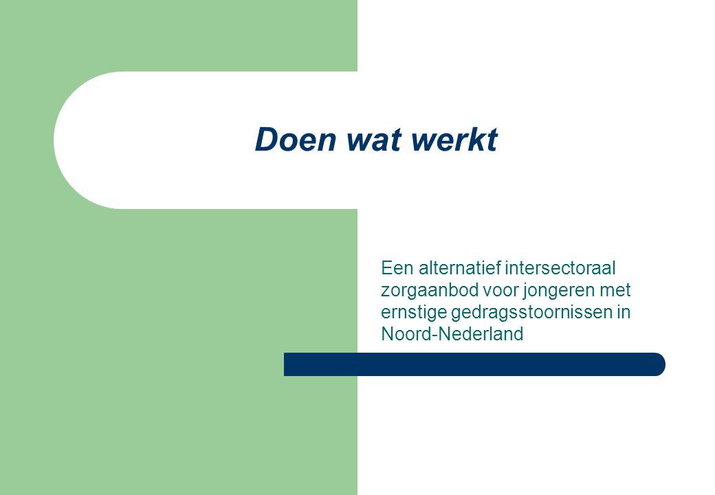 Doen wat werkt Een alternatief intersectoraal zorgaanbod voor jongeren met ernstige gedragsstoornissen in Noord-Nederland.