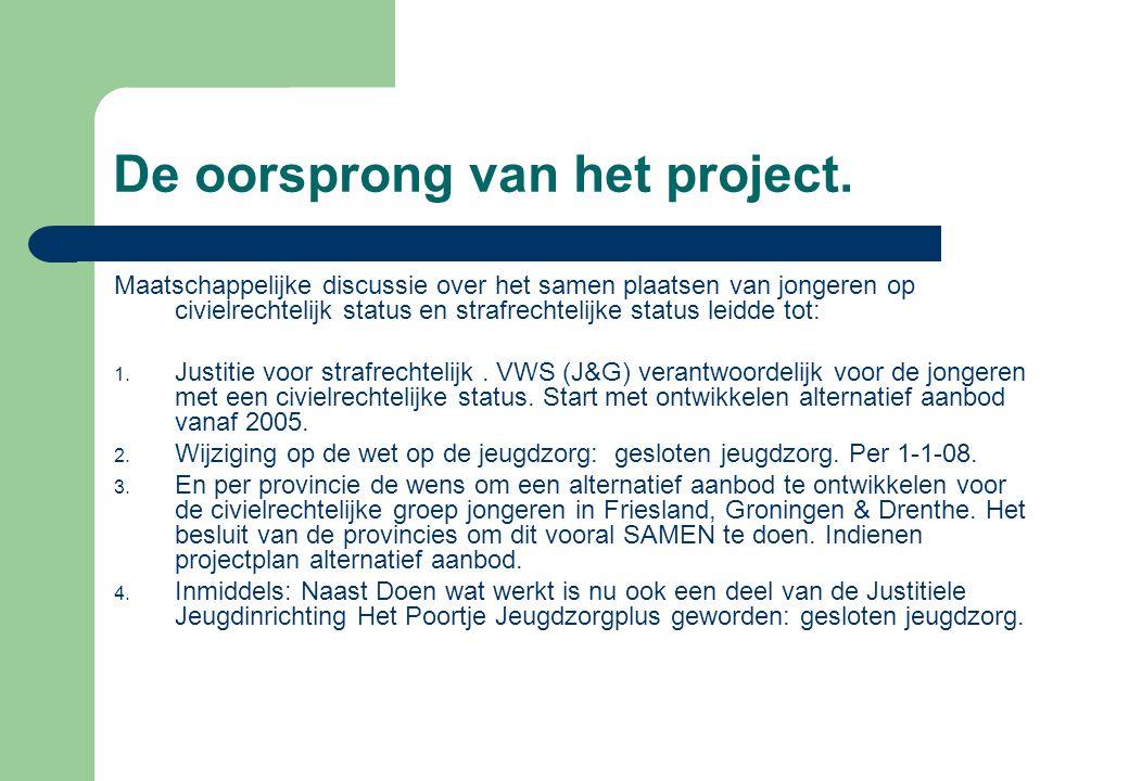 De oorsprong van het project.
