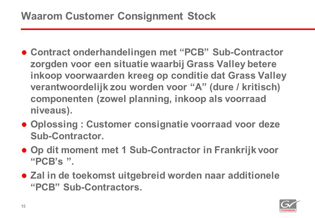 Waarom Customer Consignment Stock