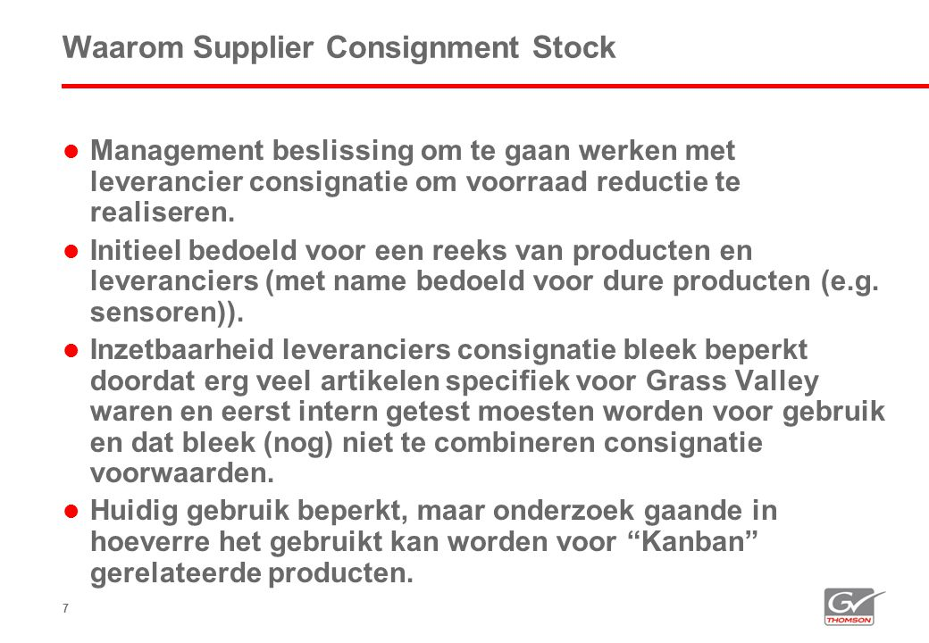 Waarom Supplier Consignment Stock