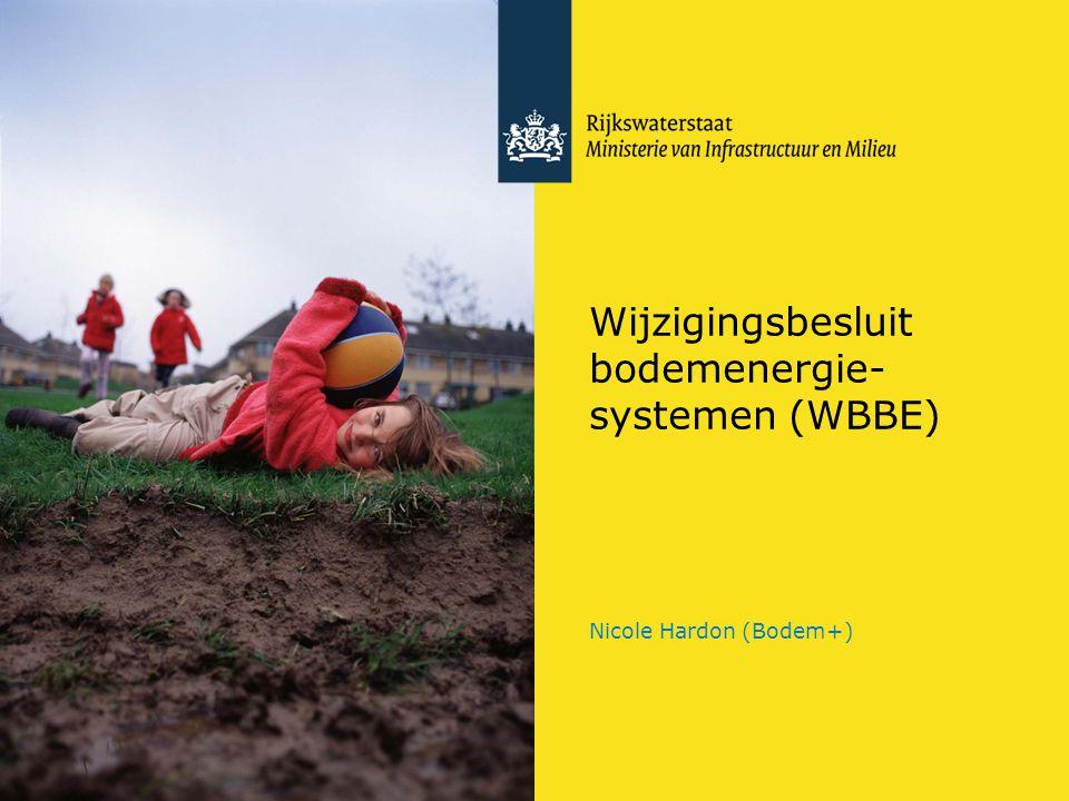 Wijzigingsbesluit bodemenergie-systemen (WBBE)