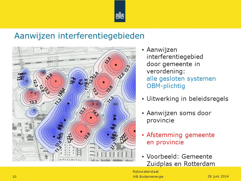 Aanwijzen interferentiegebieden