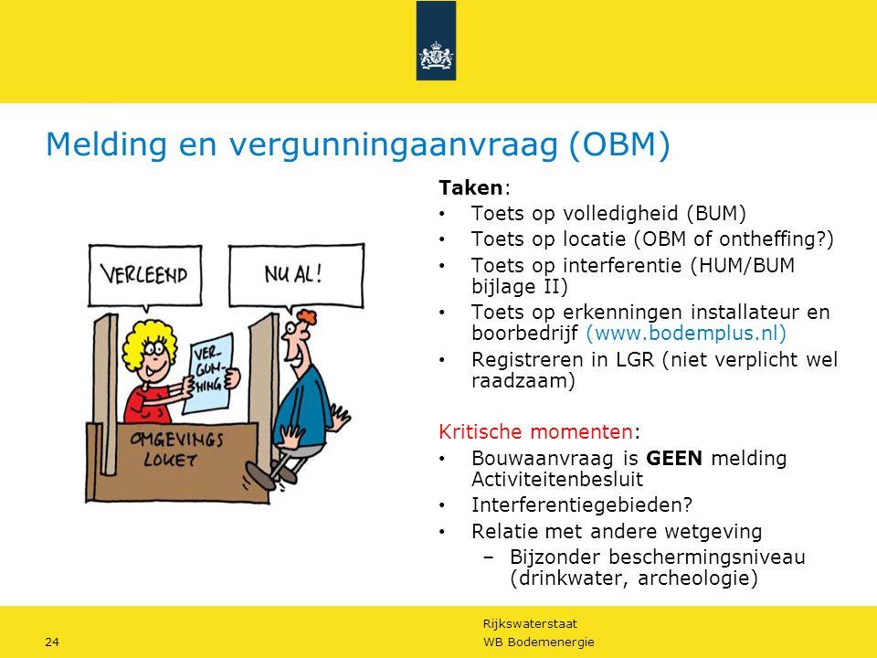 Melding en vergunningaanvraag (OBM)