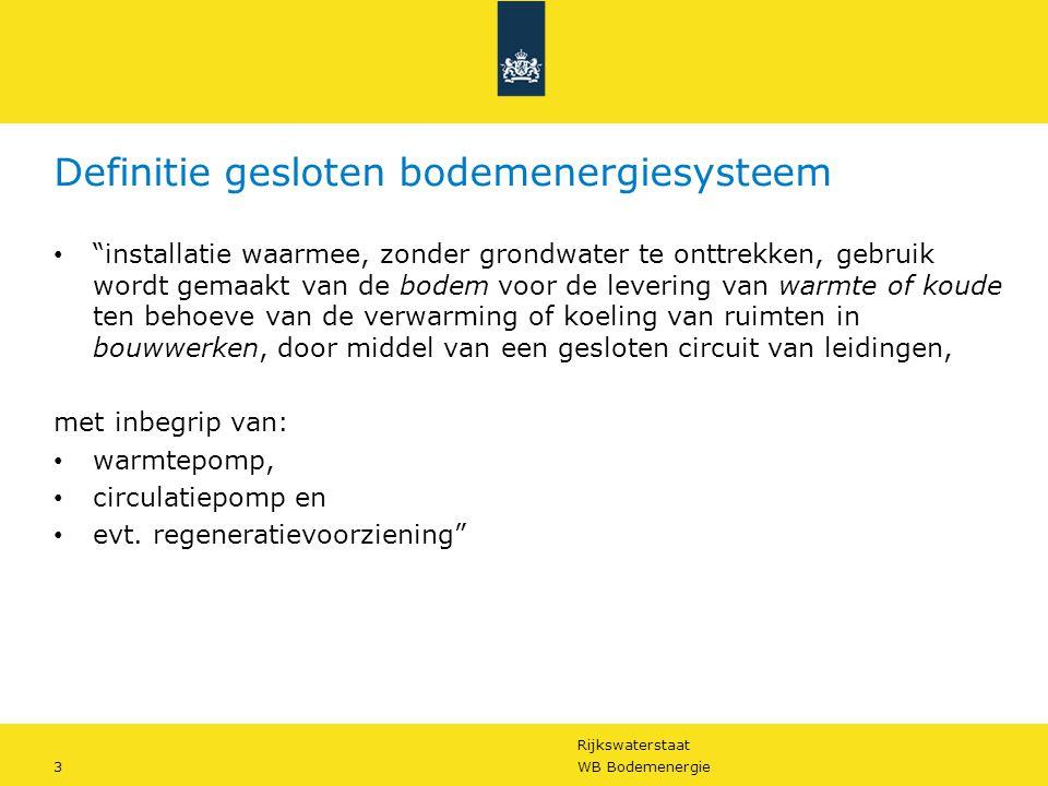 Definitie gesloten bodemenergiesysteem
