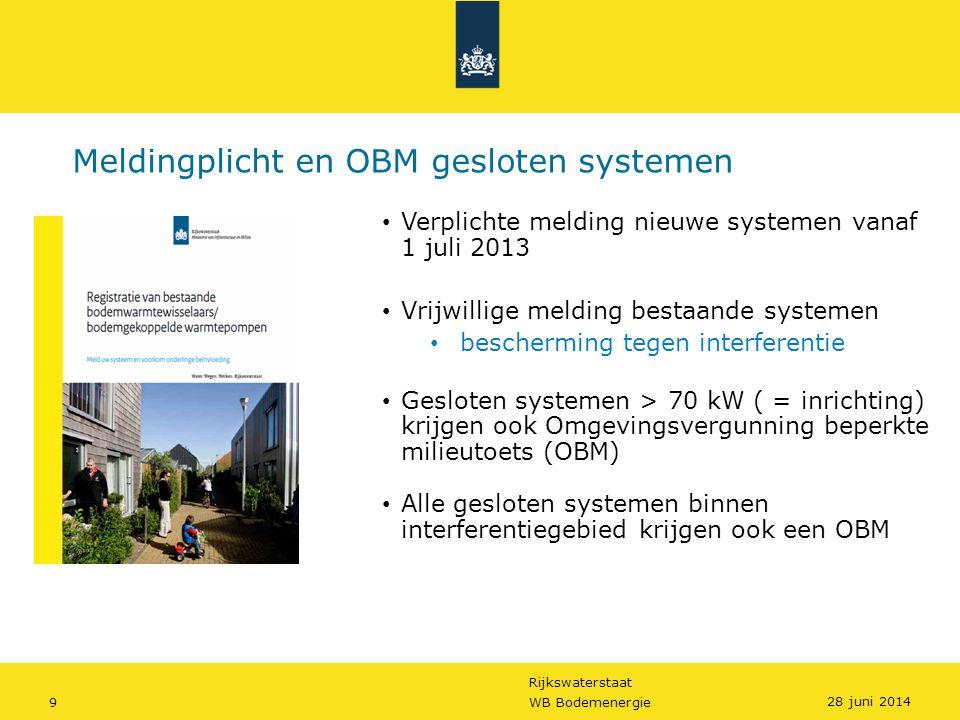 Meldingplicht en OBM gesloten systemen
