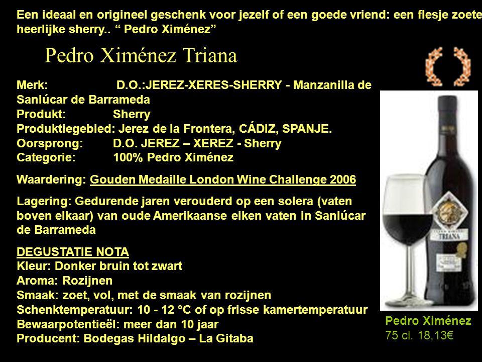 Een ideaal en origineel geschenk voor jezelf of een goede vriend: een flesje zoete heerlijke sherry.. Pedro Ximénez