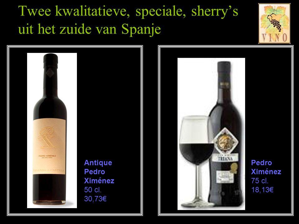 Twee kwalitatieve, speciale, sherry's uit het zuide van Spanje