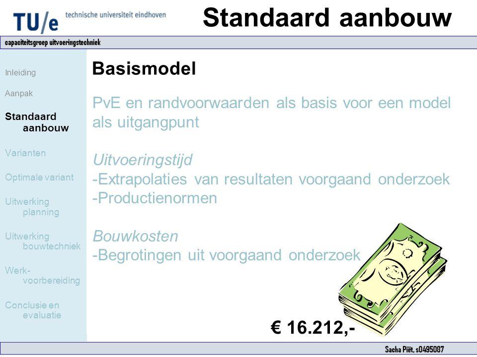 Standaard aanbouw Basismodel € 16.212,-