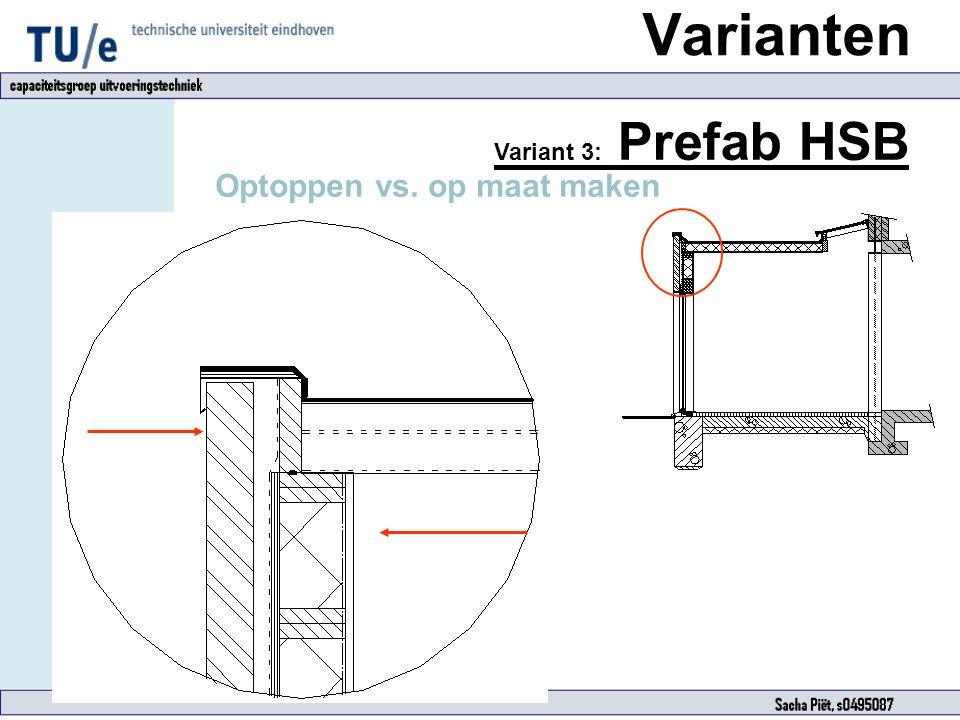 Varianten Variant 3: Prefab HSB Optoppen vs. op maat maken