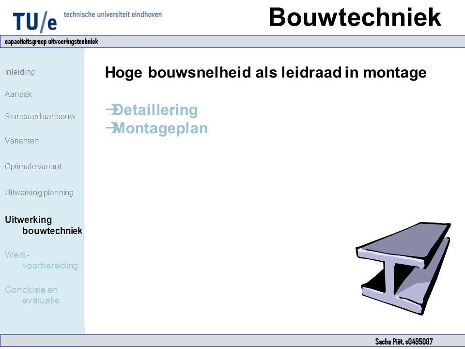 Bouwtechniek Hoge bouwsnelheid als leidraad in montage Detaillering