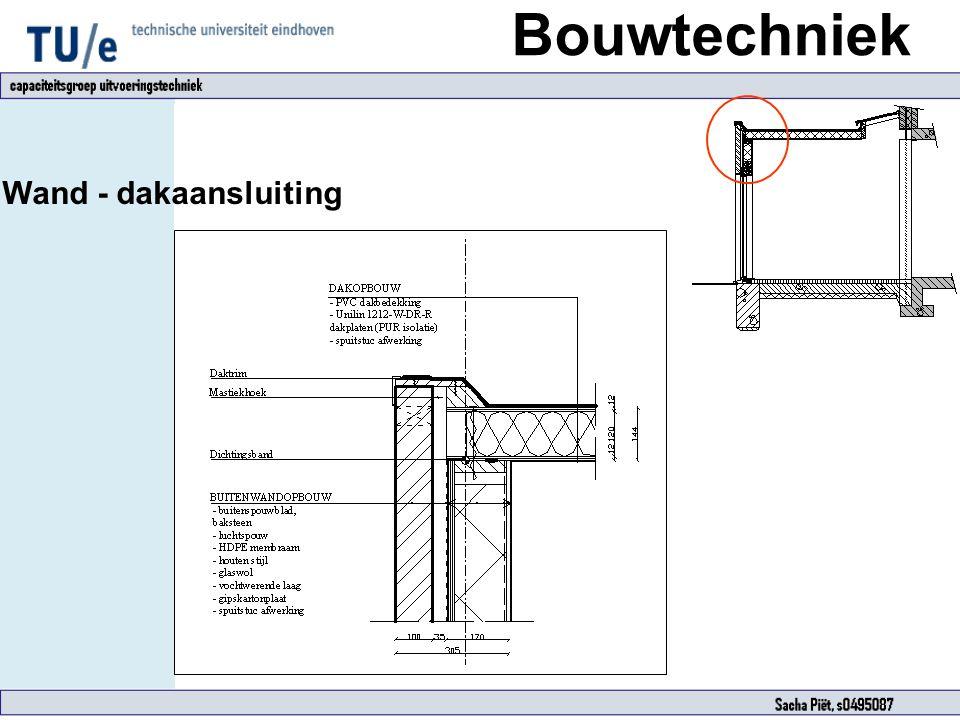 Bouwtechniek Wand - dakaansluiting