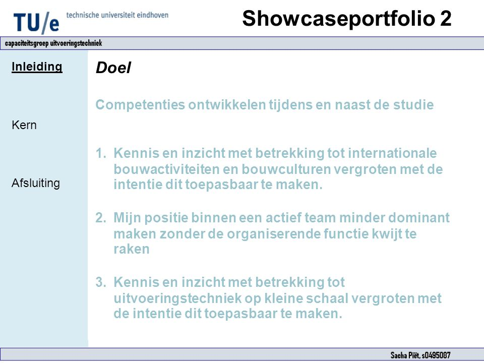 Showcaseportfolio 2 Doel
