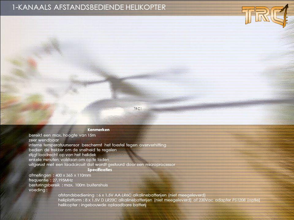 1-KANAALS AFSTANDSBEDIENDE HELIKOPTER