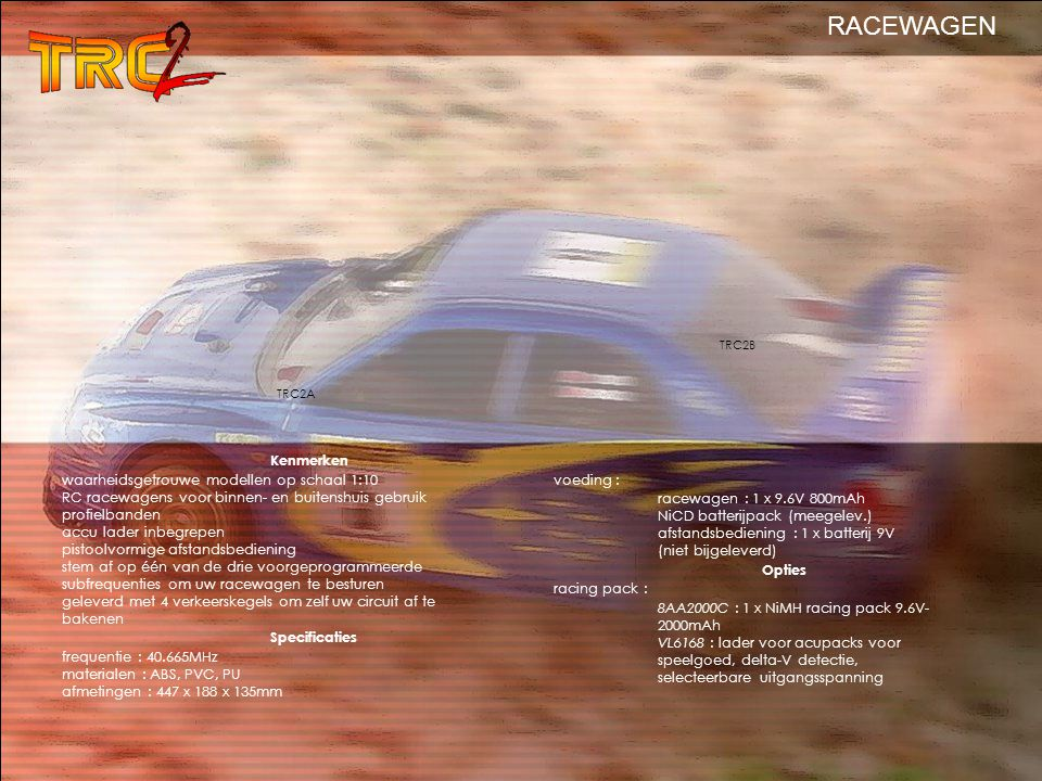 RACEWAGEN Kenmerken waarheidsgetrouwe modellen op schaal 1:10