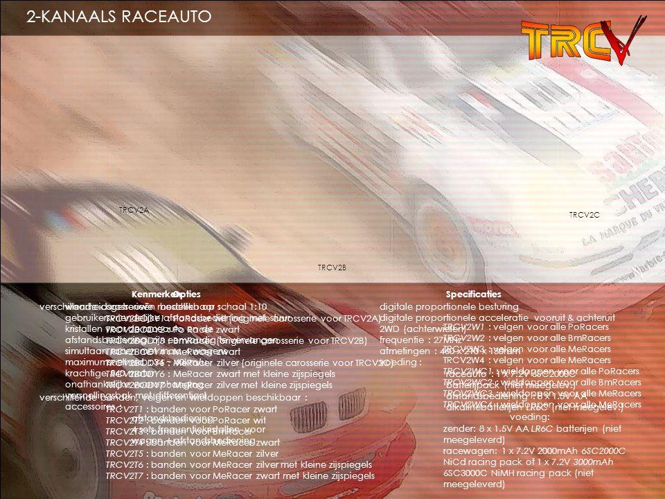 2-KANAALS RACEAUTO Opties verschillende carosserieën beschikbaar :