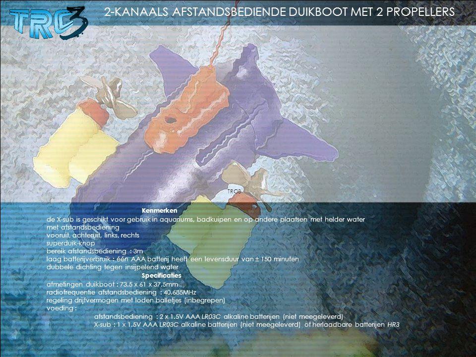 2-KANAALS AFSTANDSBEDIENDE DUIKBOOT MET 2 PROPELLERS