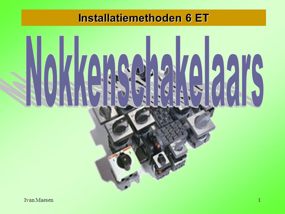 Installatiemethoden 6 ET