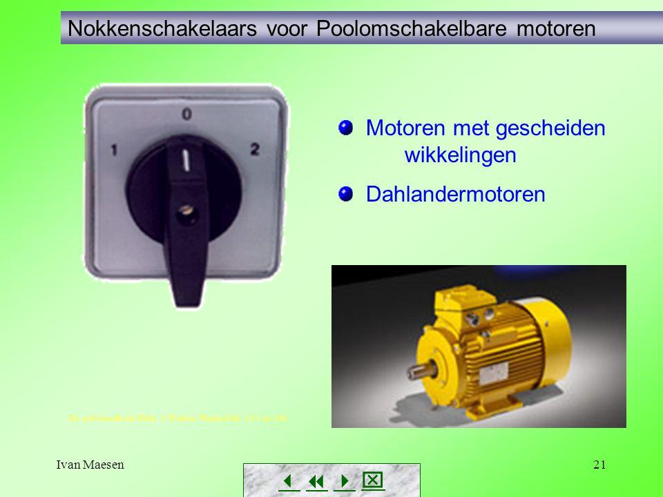 Nokkenschakelaars voor Poolomschakelbare motoren