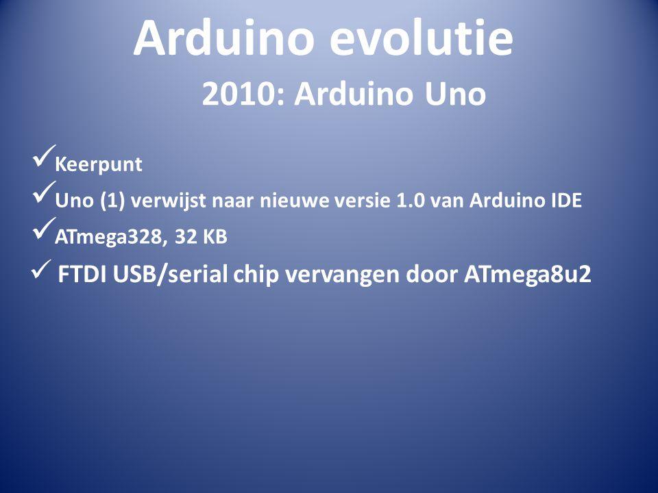 Arduino evolutie 2010: Arduino Uno Keerpunt