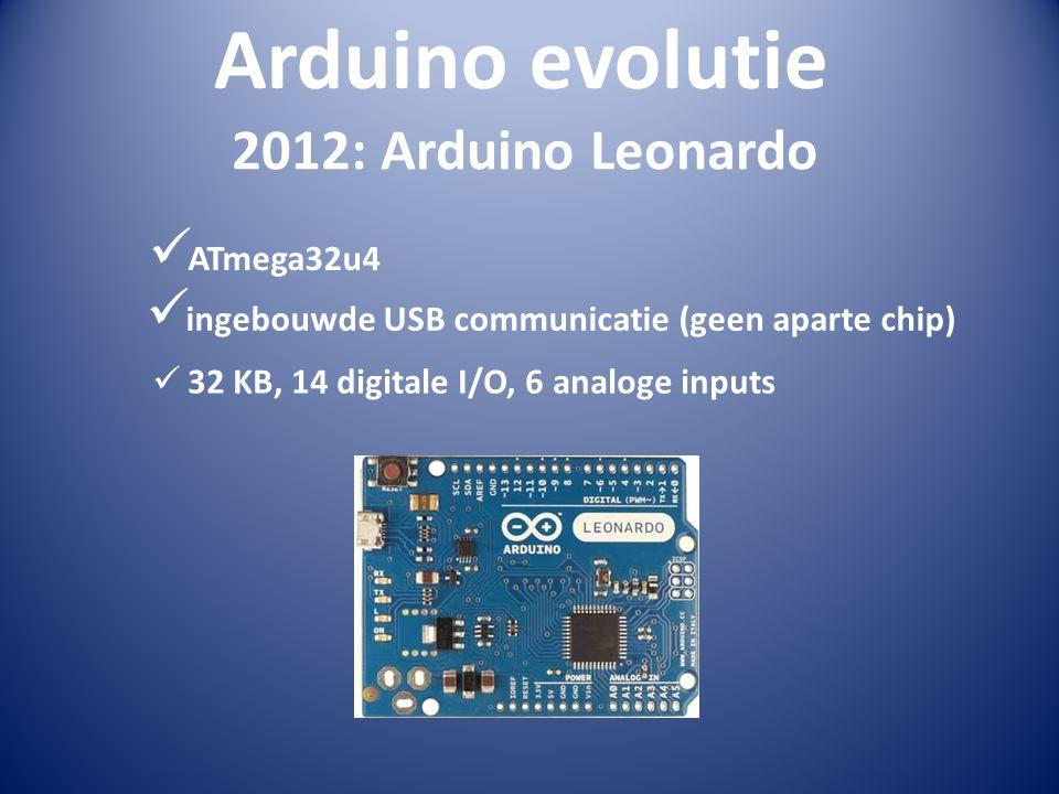Arduino evolutie 2012: Arduino Leonardo ATmega32u4