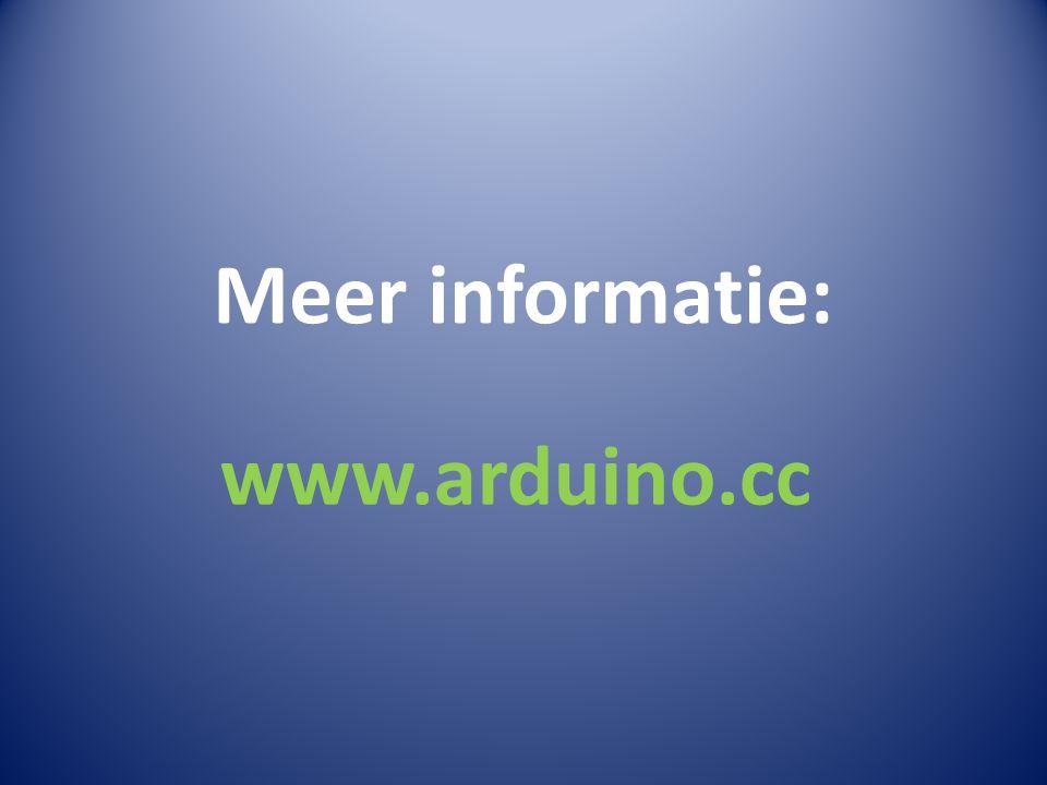 Meer informatie: www.arduino.cc