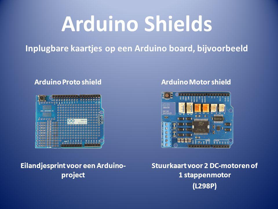 Arduino Shields Inplugbare kaartjes op een Arduino board, bijvoorbeeld