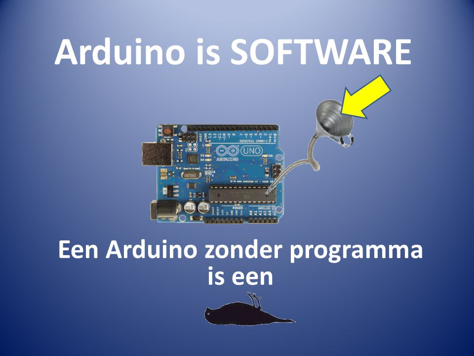 Een Arduino zonder programma is een